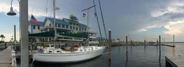 Docked at Margaritavlille Biloxi Marina