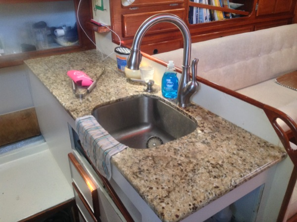 Granite boat sink 1